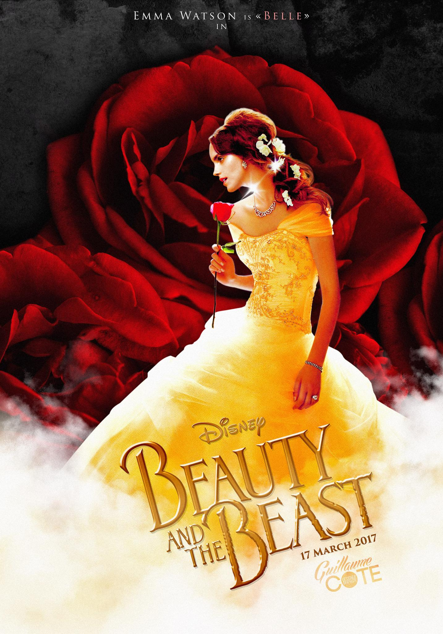 La-Belle-et-la-Bete-Beauty-and-The-Beast-march-2017-Poster-With-Emma-Watson
